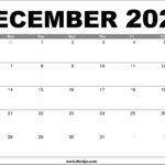 December 2020 Calendar Printable – Free Download