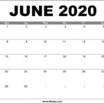 June 2020 Calendar Printable – Free Download