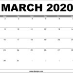 March 2020 Calendar Printable – Free Download