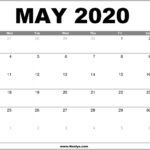 May 2020 Calendar Printable – Free Download
