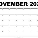 November 2020 Calendar Printable – Free Download