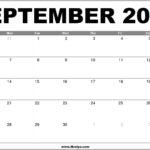 September 2020 Calendar Printable – Free Download