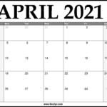 2021 April Calendar Printable – Download Free