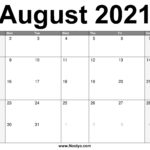 August 2021 Calendar Printable – Free Download