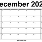 December 2021 Calendar Printable – Free Download