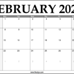 2021 February Calendar Printable – Download Free
