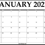 2021 January Calendar Printable – Download Free