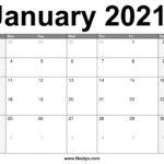 January 2021 Calendar Printable – Free Download