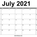July 2021 Calendar Printable – Free Download