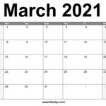 March 2021 Calendar Printable – Free Download