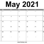 May 2021 Calendar Printable – Free Download