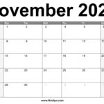 November 2021 Calendar Printable – Free Download