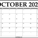 3 Month Calendar 2021 October November December