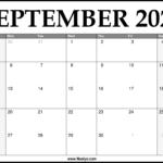2021 September Calendar Printable – Download Free