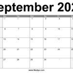 September 2021 Calendar Printable – Free Download