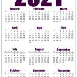 2021 Printable United Kingdom Calendar