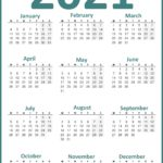 UK Calendar 2021 Year, Week Starts Monday