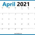 April 2021 Calendar Starts with Monday