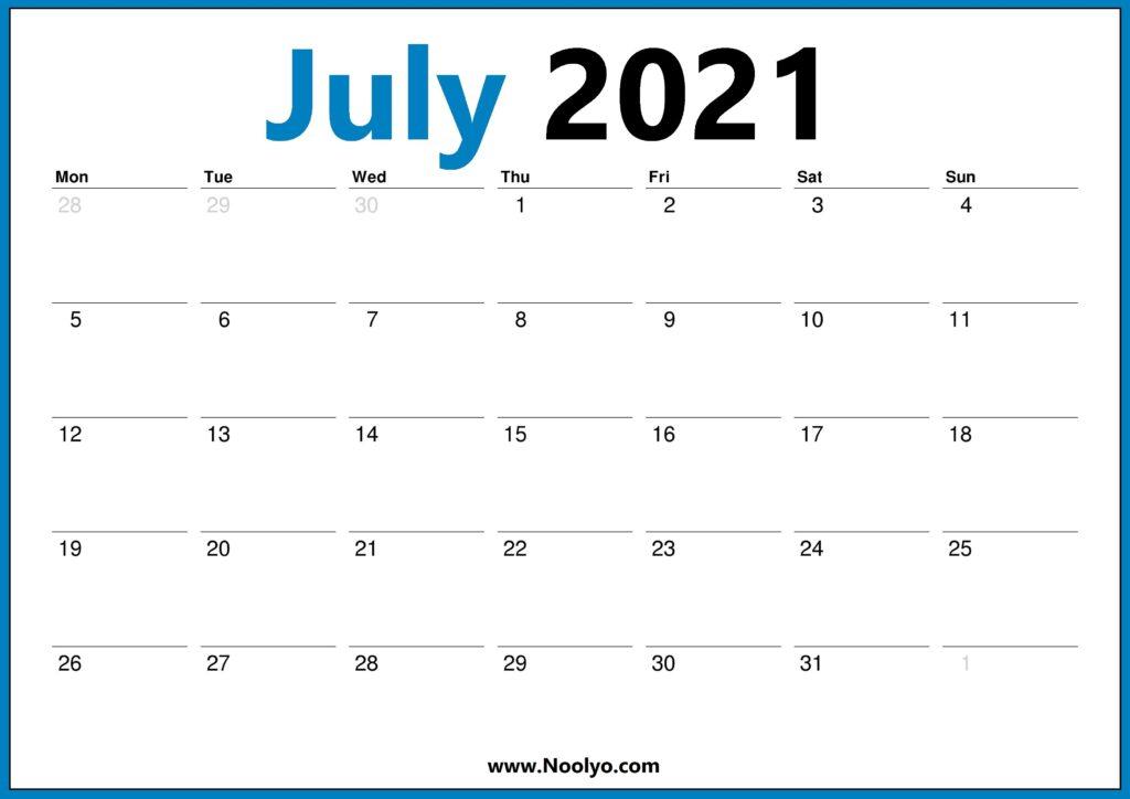 2021 Calendar UK July August September