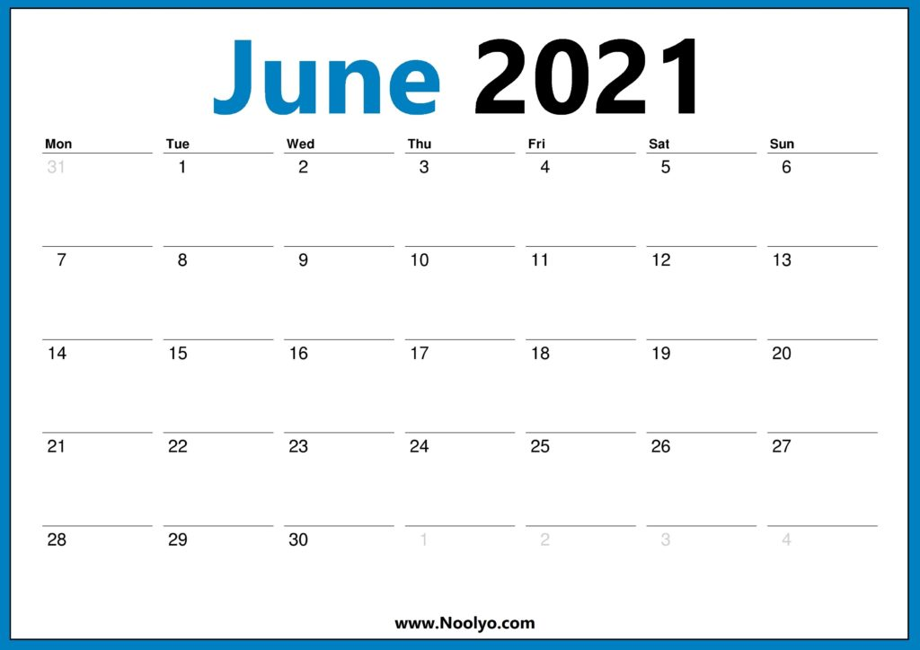 US Calendar 2021 - United States 2021 Calendar - Noolyo.com