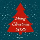 Merry Christmas Card - Printable, Free - Navy Blue