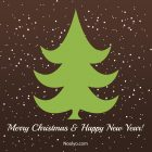 Merry Christmas Card - Printable, Free - Minimalist Brown
