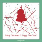 Merry Christmas Card - Printable, Free -Collection Design