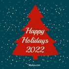 Happy Holidays Card – Printable, Free – Navy Blue