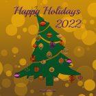 Happy Holidays Card – Printable, Free – Christmas Tree
