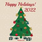 Happy Holidays Card – Printable, Free – Christmas Tree
