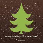 Happy Holidays Card – Printable, Free – Minimalist Brown