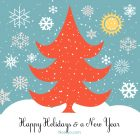 Happy Holidays Card – Printable, Free – Blue