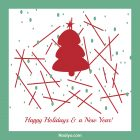 Happy Holidays Card – Printable, Free – Collection Design