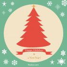 Happy Holidays Card – Printable, Free – Green Frame
