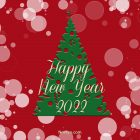 New Year Card – Printable, Free – Red Card