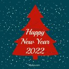New Year Card – Printable, Free – Navy Blue