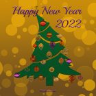 New Year Card – Printable, Free – Christmas Tree