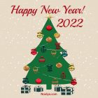 New Year Card – Printable, Free – Christmas Tree