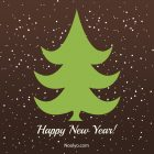New Year Card – Printable, Free – Minimalist Brown