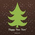 New Year Card – Printable, Free – Minimalist Brown