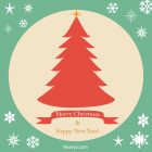 New Year Card – Printable, Free – Green Frame