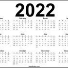2022 Calendar Printable US – Download Free