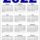 2022 Calendar US Printable – Download Free