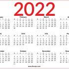 2022 UK Calendar Printable One Page