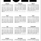 2022 Calendar Printable – Black and White