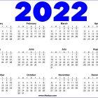 Printable Calendar 2022 – Blue and  White
