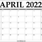 2022 April Calendar Printable – Download Free
