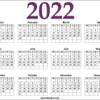 2022 Calendar Australia Printable Free