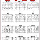 2022 AU Calendar Printable Free
