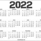 2022 Calendar AU Printable Free